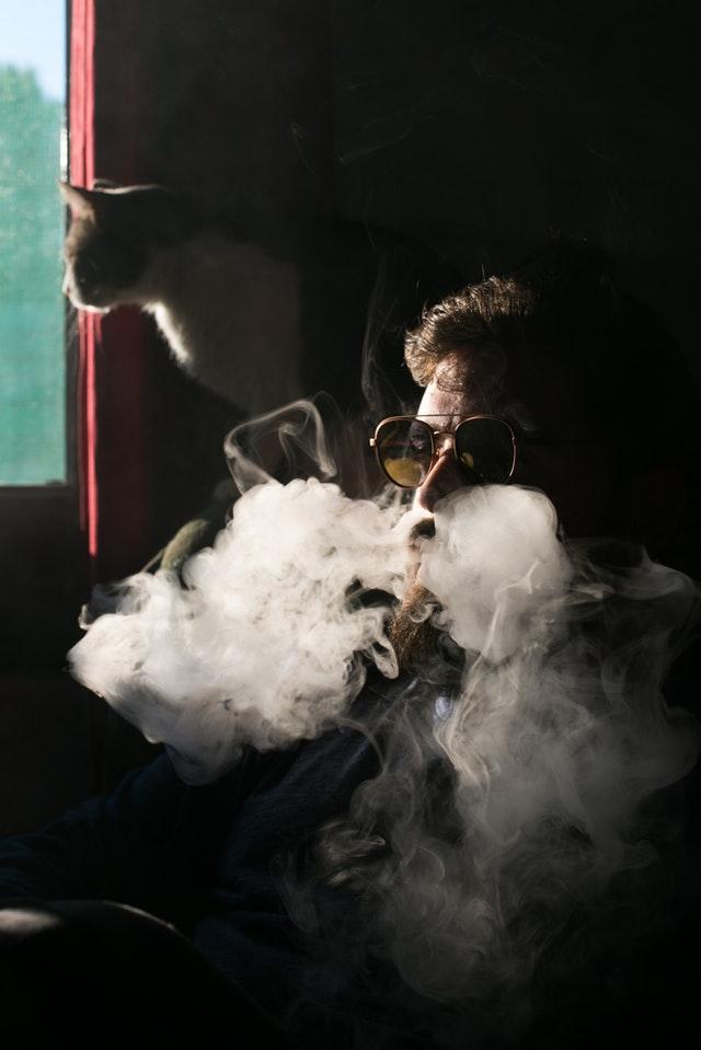 Damp fra en e-cigaret